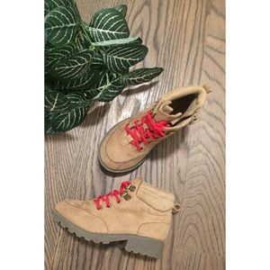 🍂 GIRLS OLD NAVY TAN SUEDE BOOTS🍂